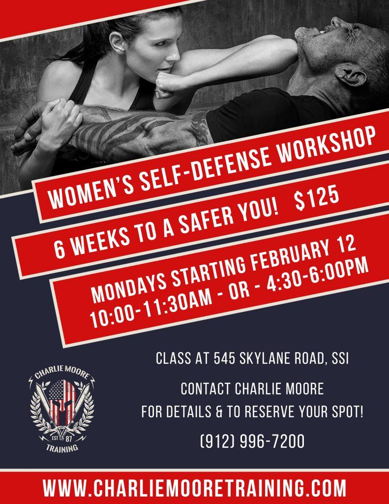 Women's Self-Defense Workshop - Saint Simons Island, GA   ©2018 Charlie Moore Training - www.charliemooretraining.com