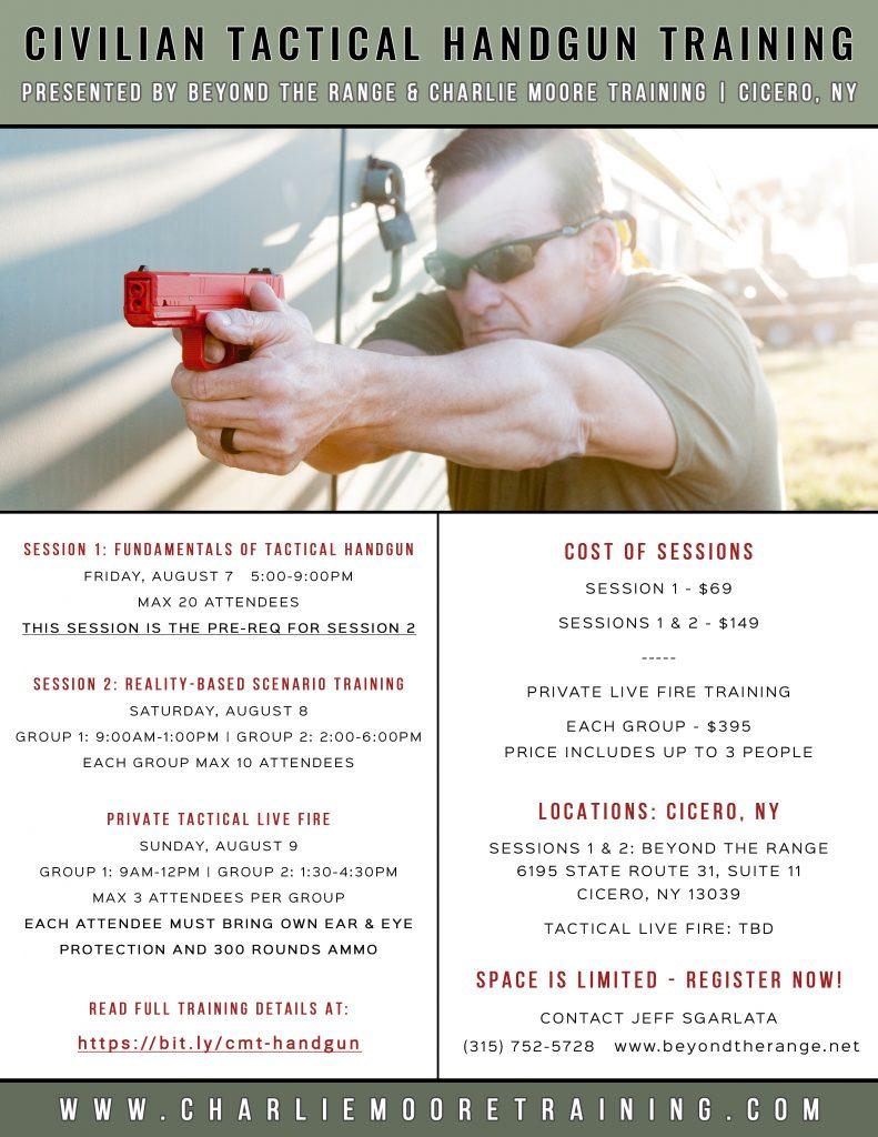 Cicero NY Civilian Tactical Handgun Training - Charlie Moore Training
